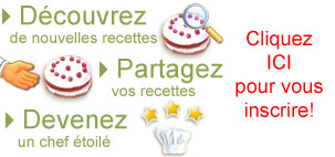 D&eacute;couvrez de nouvelles recettes, Partagez vos recettes, Devenez un chef &eacute;toil&eacute;